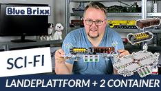 Youtube: Main Base Mars - Landeplattform & Container von BlueBrixx