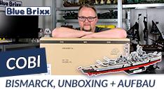 Youtube: Schlachtschiff Bismarck von Cobi - Unboxing und Start des Aufbaus!