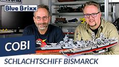 Youtube: Schlachtschiff Bismarck von Cobi @ BlueBrixx
