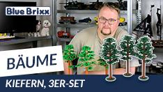 Youtube: Bäume von BlueBrixx - Kiefern im 3er-Set!