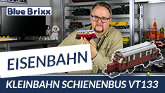 Youtube: Kleinbahn Schienenbus VT133 von BlueBrixx - mit kleiner Motorenkunde!
