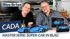 Youtube: Super Car in blau von CaDA @ BlueBrixx - ein Technikset mit 3.842 Teilen!