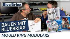 Youtube: Bauen mit BlueBrixx - zwei modulare Gebäude von Mould King!