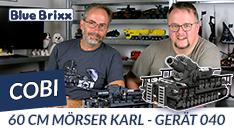 Youtube: 60cm-Mörser Karl-Gerät 040 von Cobi @ BlueBrixx
