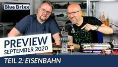 Youtube: Preview-Special September 2020 - Teil 2: Eisenbahn @ BlueBrixx