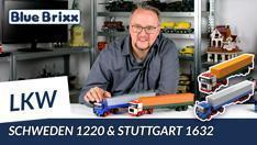 Youtube: Zwei LKW von BlueBrixx - Schweden 1220 & Stuttgart 1632