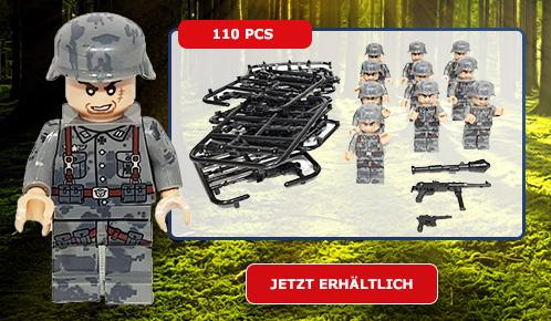 10x Deutsche WWII Soldaten, Minfiguren
