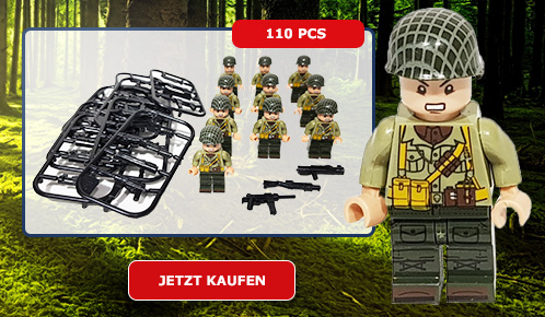 10x US-Army WWII Soldaten, Minfiguren