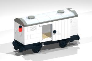 Eisenbahn - Noppensteine - kompatibel mit Lego - Wagon 1