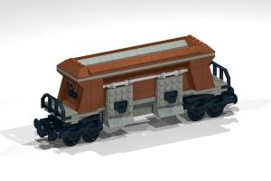 Eisenbahn - Noppensteine - kompatibel mit Lego - Wagon 3