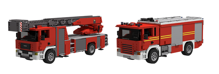 Firetruck 1 building blocks set - can be combined with Lego