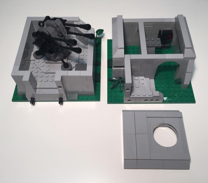 Bluebrixx Bunker Flakstellung