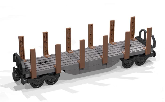 Bluebrixx Special Rungenwagen Güterwagen