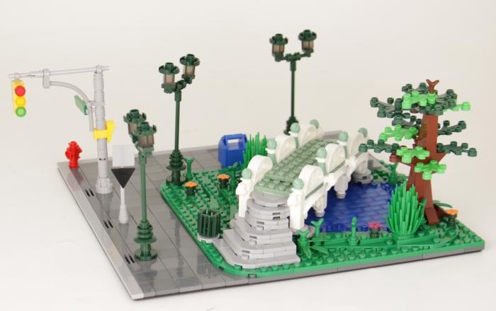 BlueBrixx Special Park, See mit Brücke