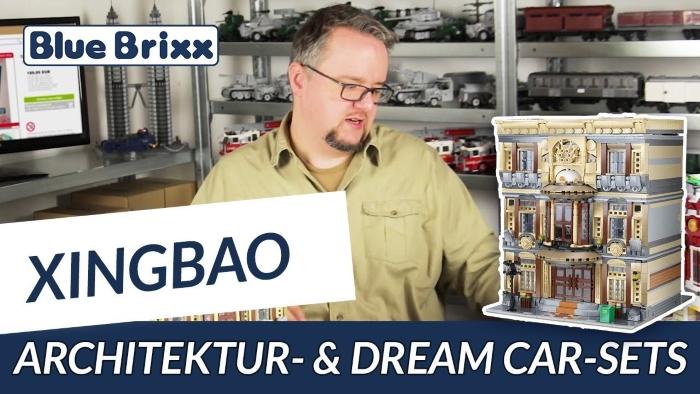 Youtube Architektur- und Dream Car-Sets von Xingbao