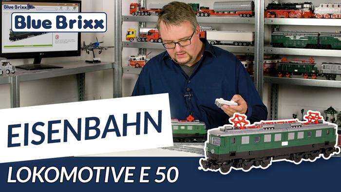 Youtube: Lokomotive E50 von BlueBrixx