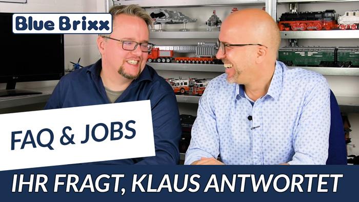 Youtube: FAQ & Jobs - häufig gestellte Fragen Teil 2 und Jobangebote bei BlueBrixx