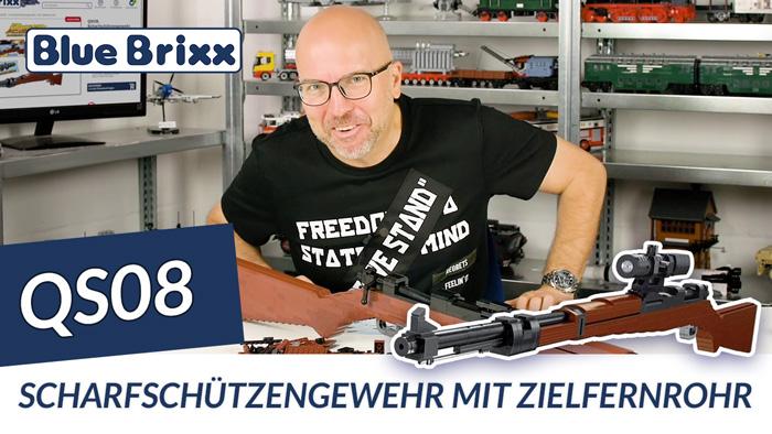 Youtube: Scharfschützengewehr mit Zielfernrohr von QS08 @ BlueBrixx