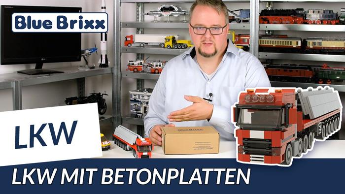 Youtube: Schwerlast-LKW mit Betonplatten von BlueBrixx