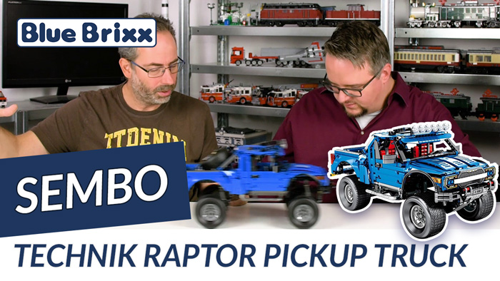 Youtube: Blauer Pickup-Truck Raptor von Sembo @ BlueBrixx