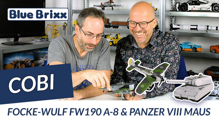Youtube: Focke-Wulf Fw190 A-8 & Panzer VIII Maus @ BlueBrixx