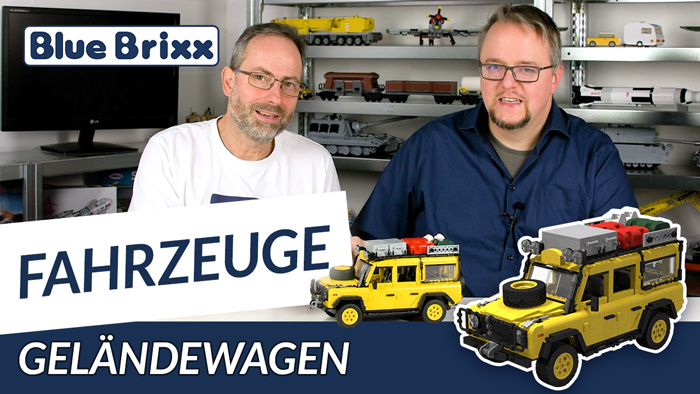 Geländewagen von BlueBrixx - mit Gaststar Micha im Studio