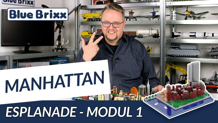 Youtube: Manhattan-Modul 1 - Esplanade von BlueBrixx