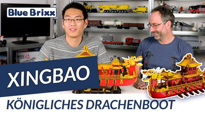 Youtube: Königliches Drachenboot von Xingbao @ BlueBrixx - mit Studiogast Oli!