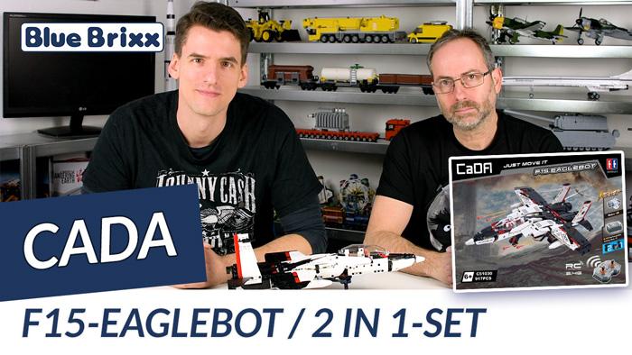 Youtube: F15 Eaglebot von CaDA @ BlueBrixx - gebaut vom Helden der Steine!