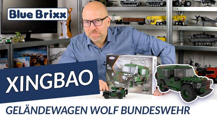 Youtube: Bundeswehr-Geländewagen Wolf von Xingbao @ BlueBrixx