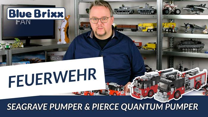 Youtube: Seagrave Pumper & Pierce Quantum Pumper in rot/schwarz von BlueBrixx