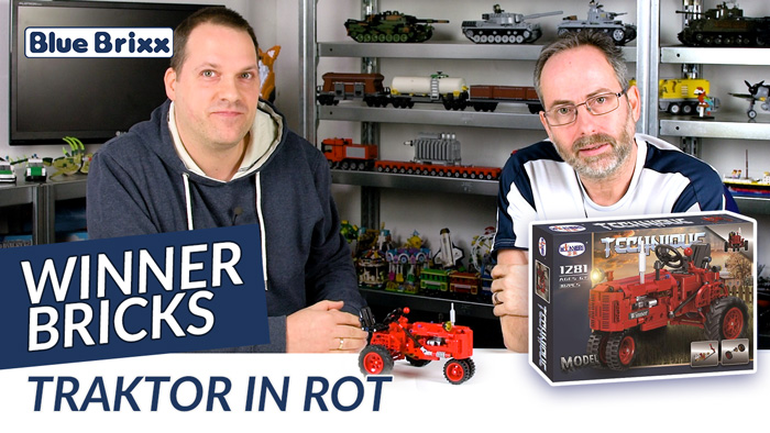 Youtube: Traktor in Rot von Winner Bricks @ BlueBrixx