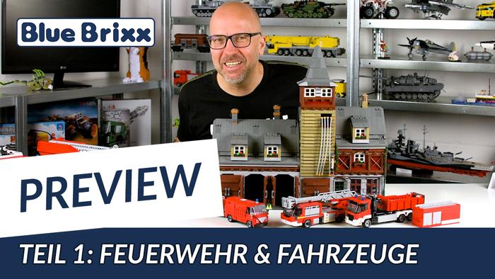 Youtube: Preview-Special April 2020 - Teil 1: Feuerwehr & Fahrzeuge @ BlueBrixx