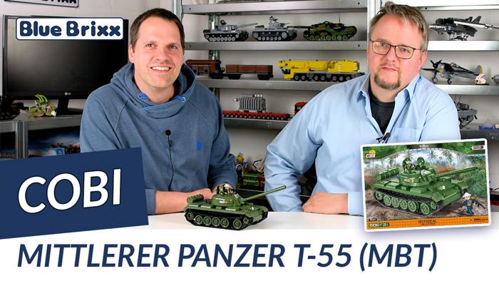 Youtube: Mittlerer Panzer T-55 des Vietnamkonflikts von Cobi @ BlueBrixx