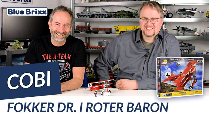 Youtube: Fokker DR. I Roter Baron von Cobi @ BlueBrixx - mit Outtake!