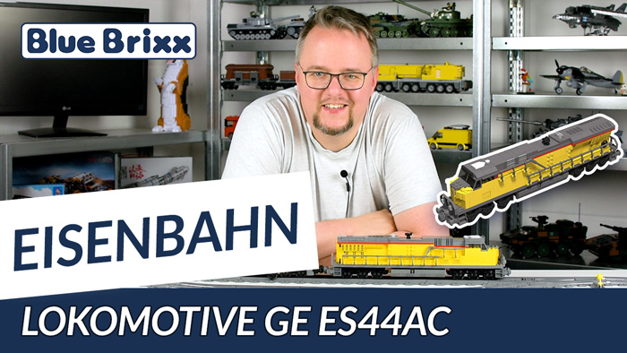 Lokomotive GE ES44AC Gelb von BlueBrixx