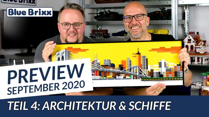 Youtube: Preview-Special September 2020 - Teil 4: Architektur & Schiffe @ BlueBrixx