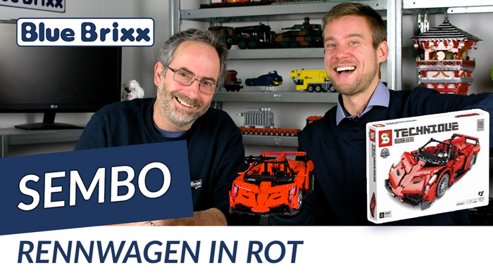 Youtube: Rennwagen in rot von Sembo @ BlueBrixx