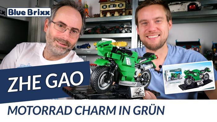 Youtube: Motorrad Charm in grün von Zhe Gao @ BlueBrixx