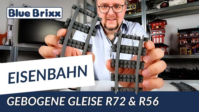 Neue Schienenradien: Gebogene Gleise R56 & R72 von BlueBrixx
