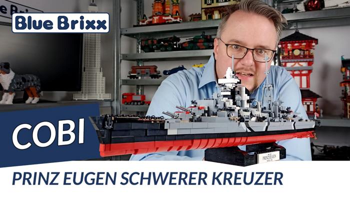 Youtube: Schwerer Kreuzer Prinz Eugen von Cobi @ BlueBrixx