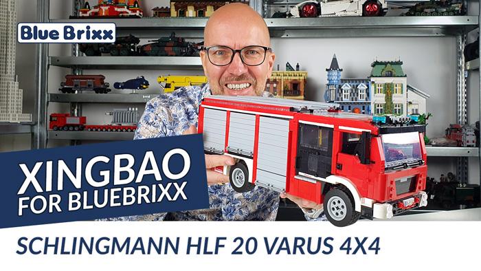 Youtube: Feuerwehr Schlingmann HLF 20 Varus 4x4 von Xingbao @ BlueBrixx