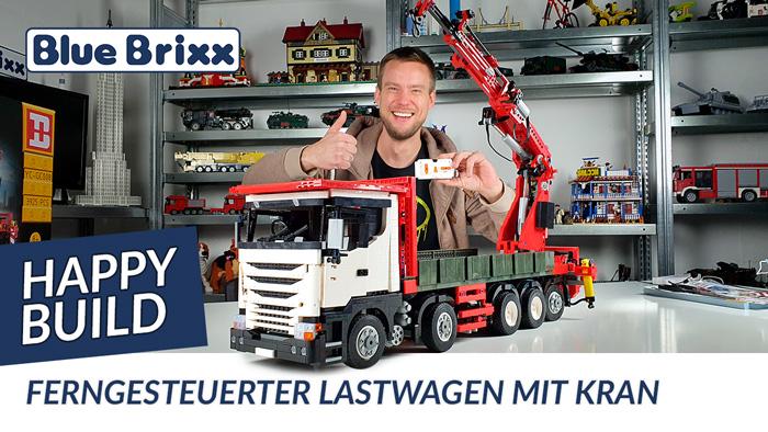 Ferngesteuerter Lastwagen mit Kran von Happy Build @ BlueBrixx