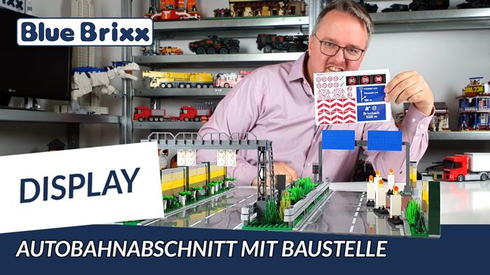 Youtube: Autobahnabschnitt mit Baustelle von BlueBrixx