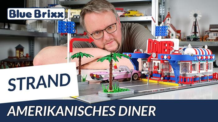 Amerikanisches Diner von BlueBrixx - unser Stranddiorama wird größer!