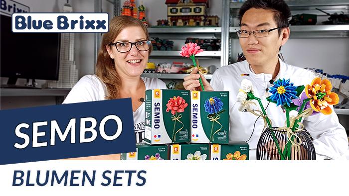 Youtube: Blumen-Sets von Sembo @ BlueBrixx - 18 bunte Blumen aus Noppensteinen!