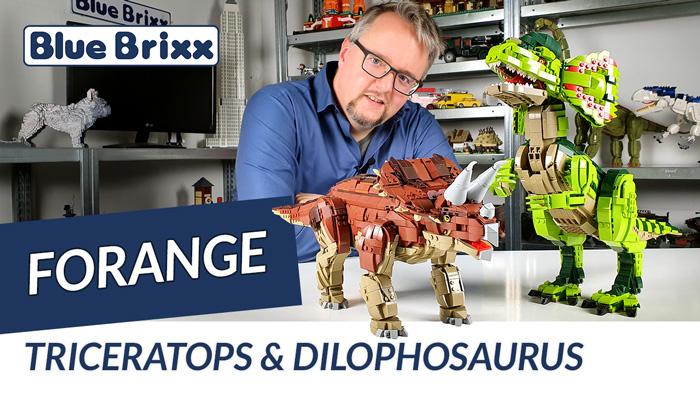 Triceratops & Dilophosaurus von Forange @ BlueBrixx - mit Soundmodul!