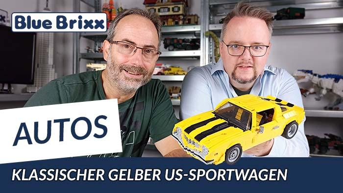 Youtube: Klassischer gelber US-Sportwagen von BlueBrixx