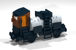 Railway - Building Blog Set - possible to combine with Lego - Wagon 2