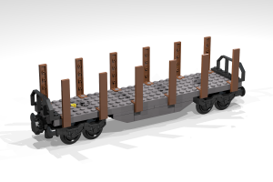 Railway - Building Blog Set - possible to combine with Lego - Wagon 4